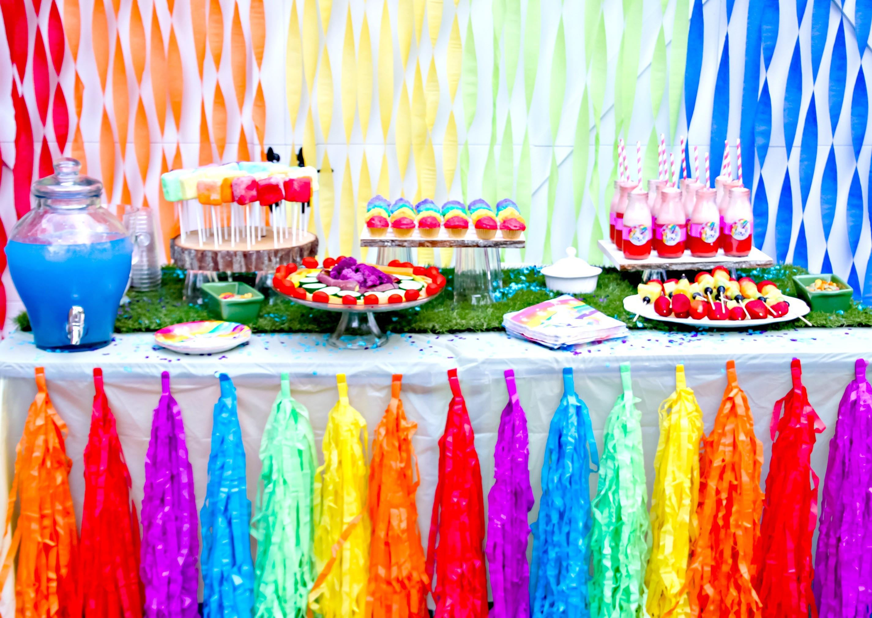 Unicorn Rainbow Party Ideas  Unicorn Birthday Party