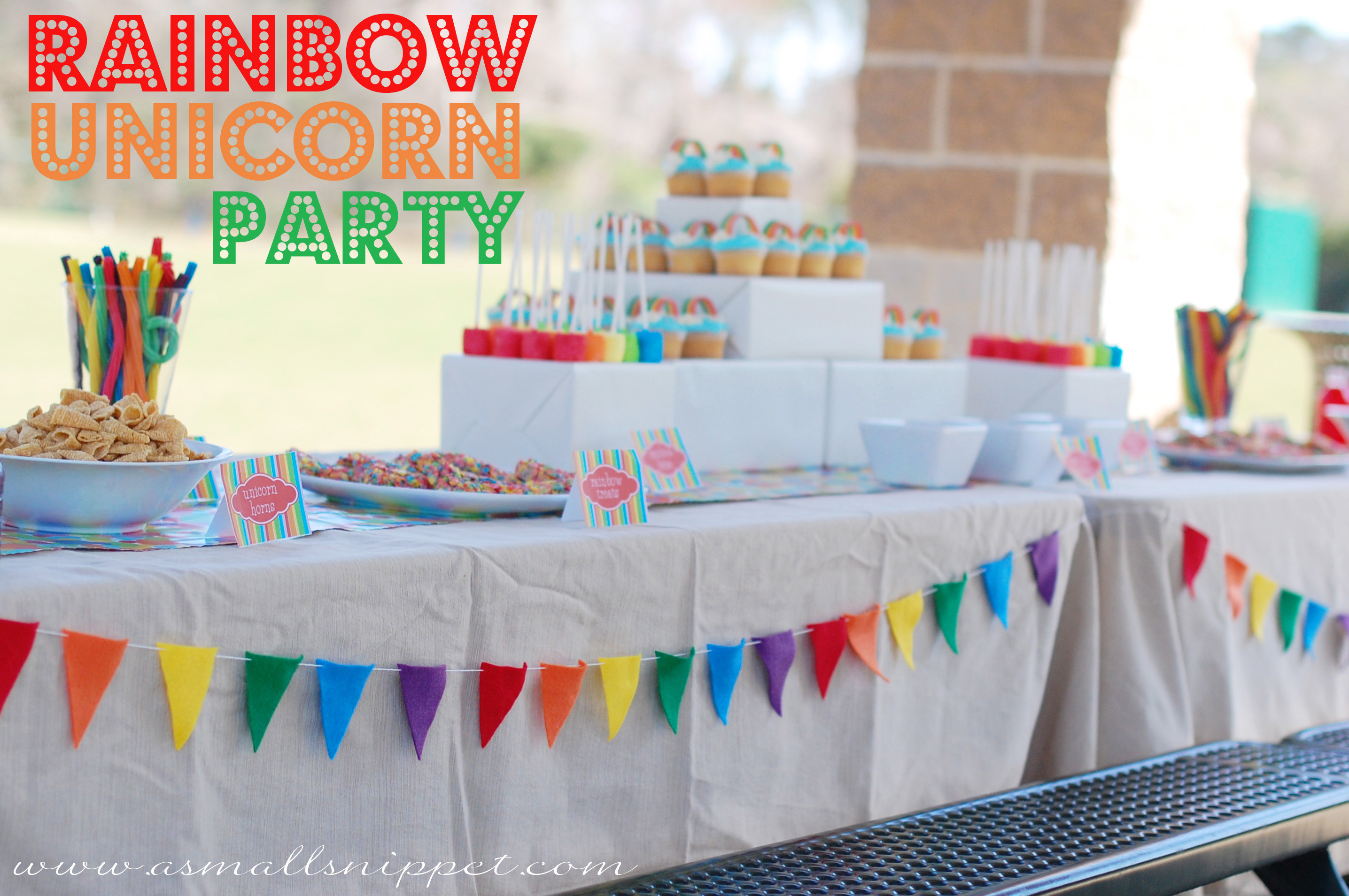 Unicorn Rainbow Party Ideas  Rainbow Unicorn Party
