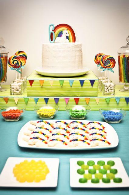 Unicorn Rainbow Party Ideas  Kara s Party Ideas Unicorn Rainbow Birthday Party