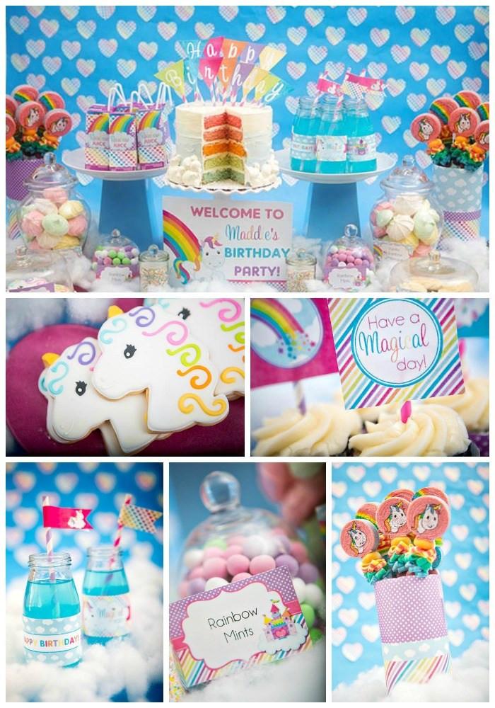 Unicorn Rainbow Party Ideas  Rainbow Unicorn Party B Lovely Events