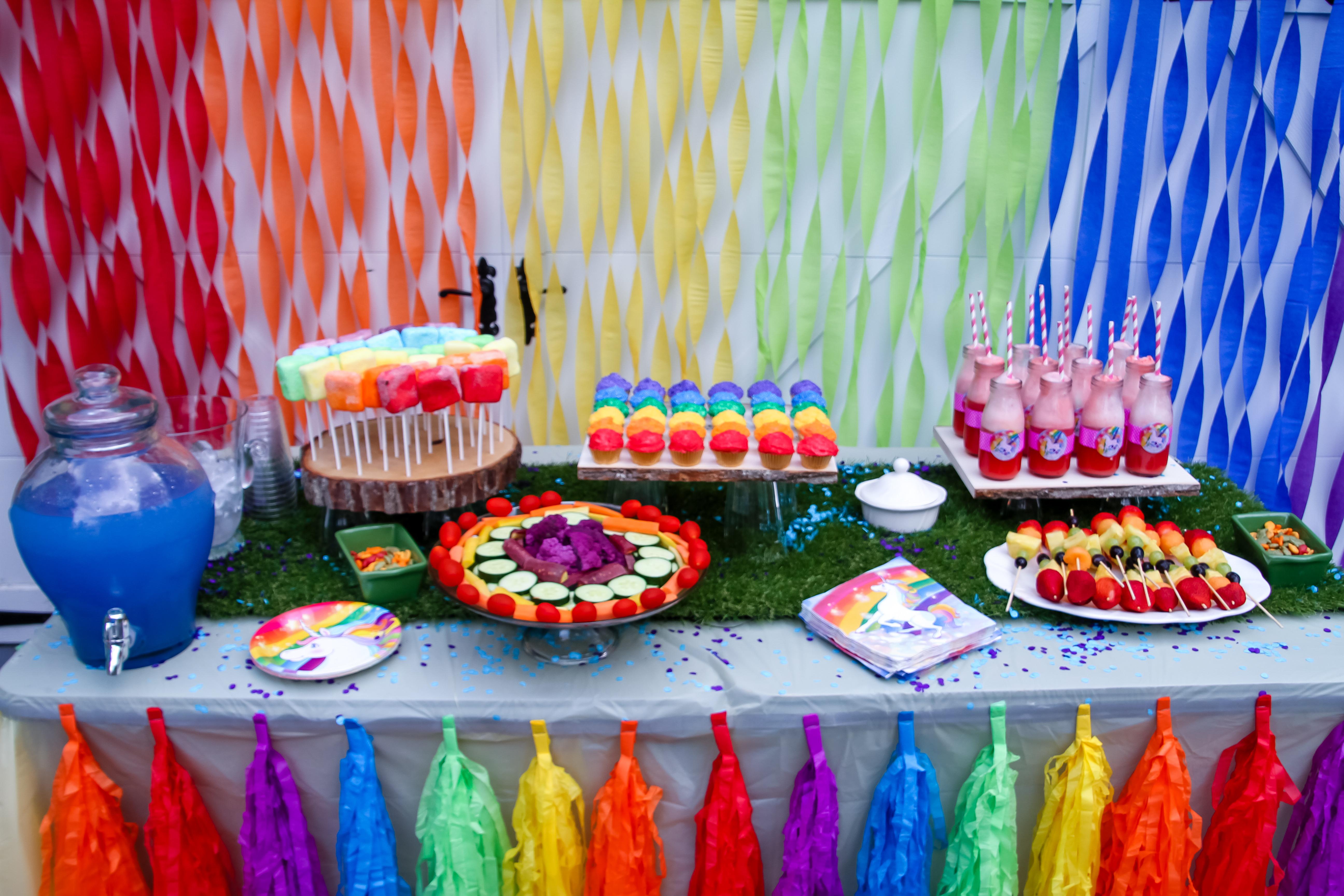 Unicorn Rainbow Party Ideas  Unicorn Rainbow birthday Party