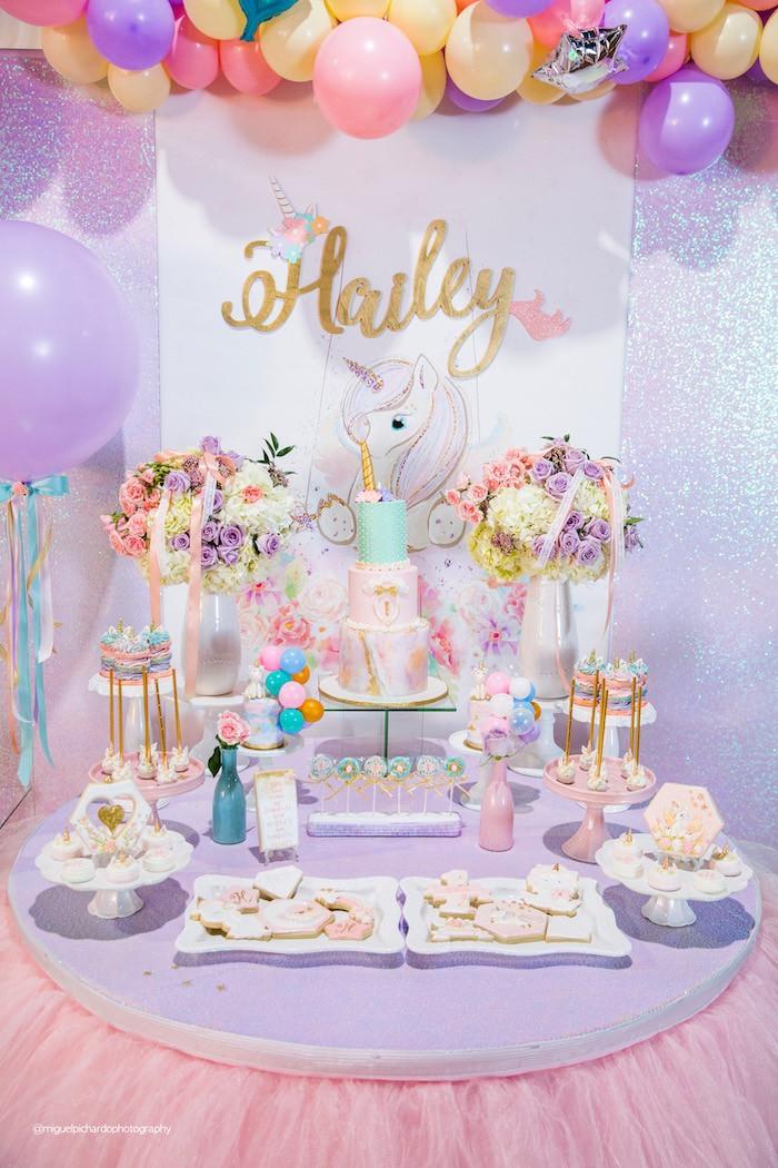 Unicorn Themed Party Ideas  Kara s Party Ideas Sparkly Baby Unicorn Birthday Party