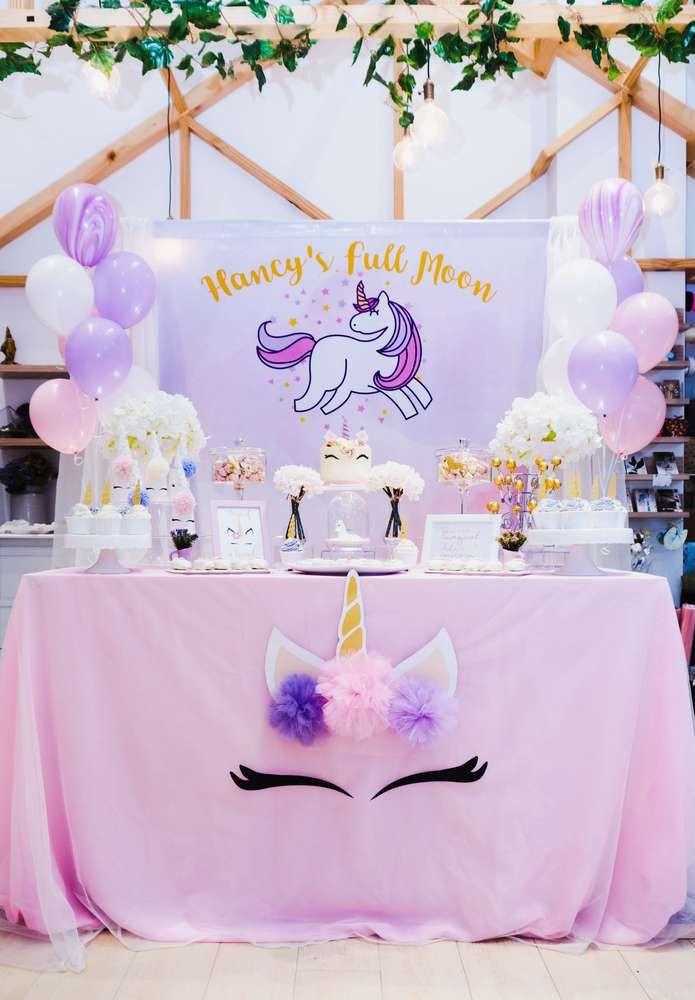 Unicorn Themed Party Ideas  Unicorn Theme Birthday Party Ideas 1 of 18