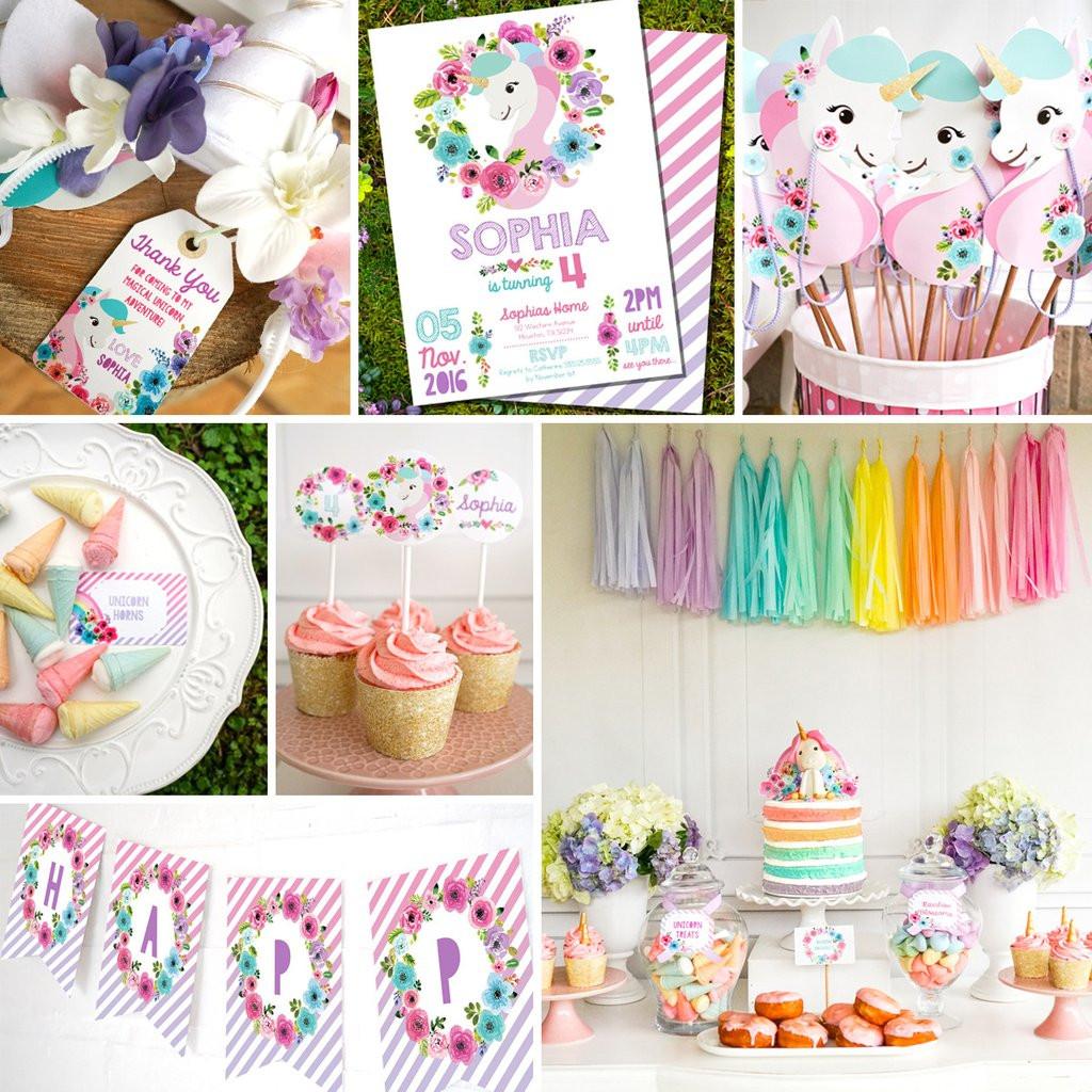 Unicorn Themed Party Ideas  Unicorn Birthday Party Decorations