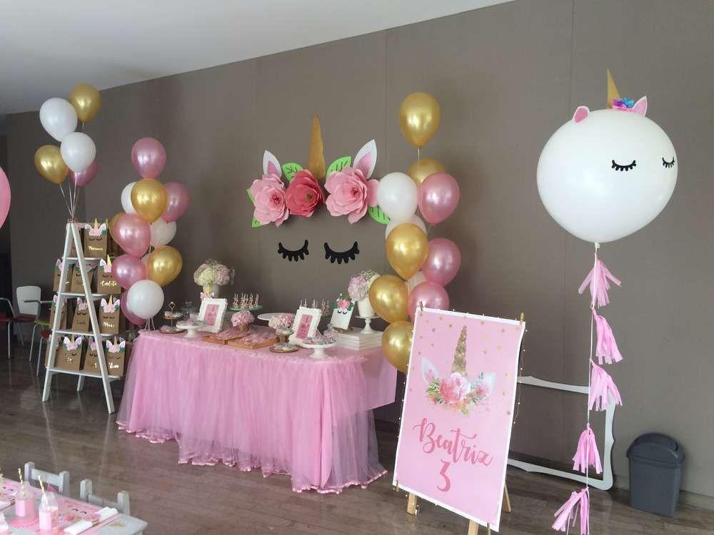 Unicorn Themed Party Ideas  Unicorn Birthday Party Ideas 15 of 36