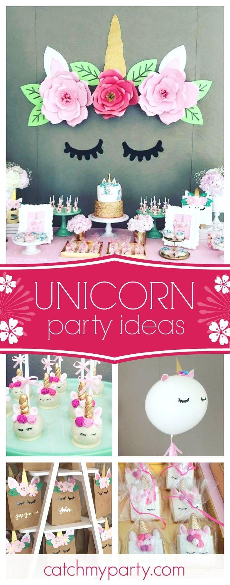 Unicorn Themed Party Ideas  Best 25 Unicorn birthday parties ideas on Pinterest