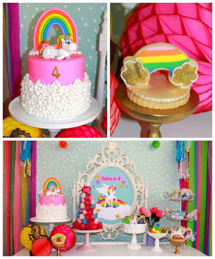 Unicorn Themed Party Ideas  Kara s Party Ideas Rainbow Unicorn Themed Birthday Party