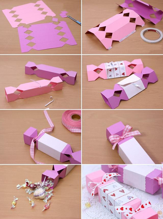 Valentine Candy Gift Ideas  diy valentine t wrapping ideas paper candy box folding
