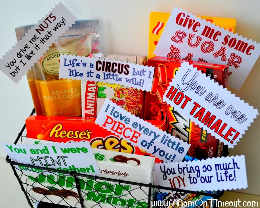 Valentine Candy Gift Ideas  DIY Valentine s Day Gift Baskets For Him Darling Doodles