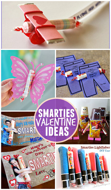Valentine Candy Gift Ideas  Valentine Ideas for Kids Using Smarties Candy Crafty