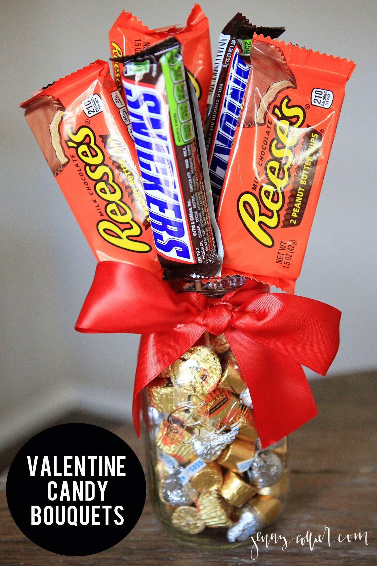 Valentine Candy Gift Ideas  Best 25 Candy bouquet diy ideas on Pinterest