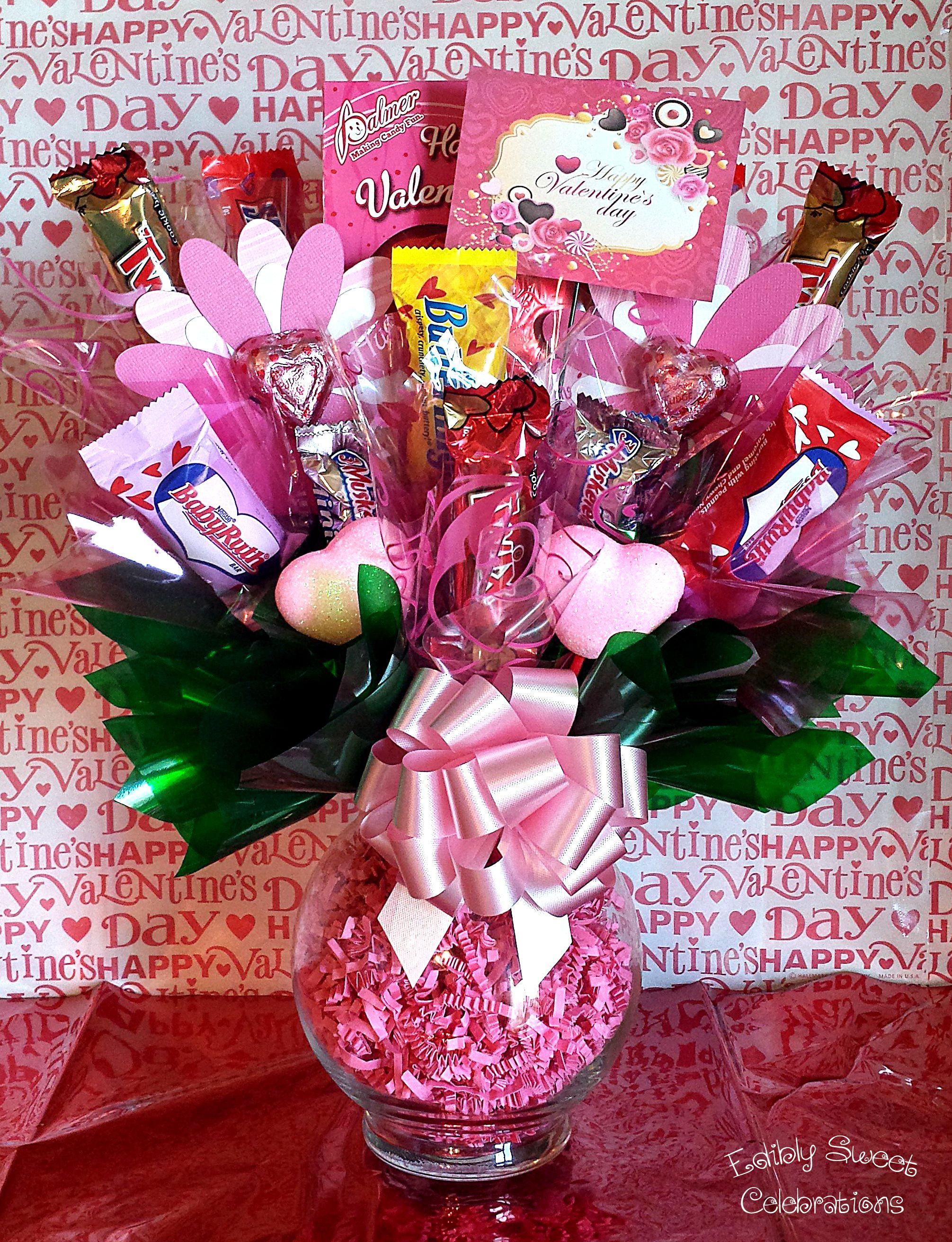 Valentine Candy Gift Ideas  Valentine candy bouquet