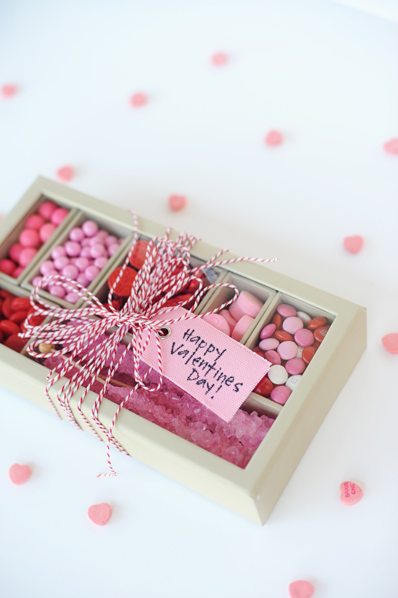 Valentine Candy Gift Ideas  Super Cute DIY Valentines Candy Gift Box Craft Red & Pink