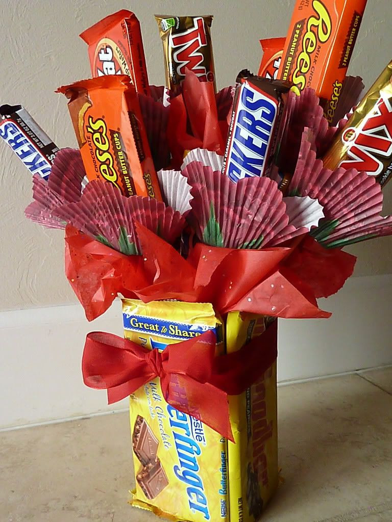 Valentine Candy Gift Ideas  Valentine s Day Gift Ideas for Guys Sweet Bouquet