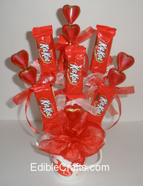 Valentine Candy Gift Ideas  Valentines t ideas Candy Bouquet DIY from