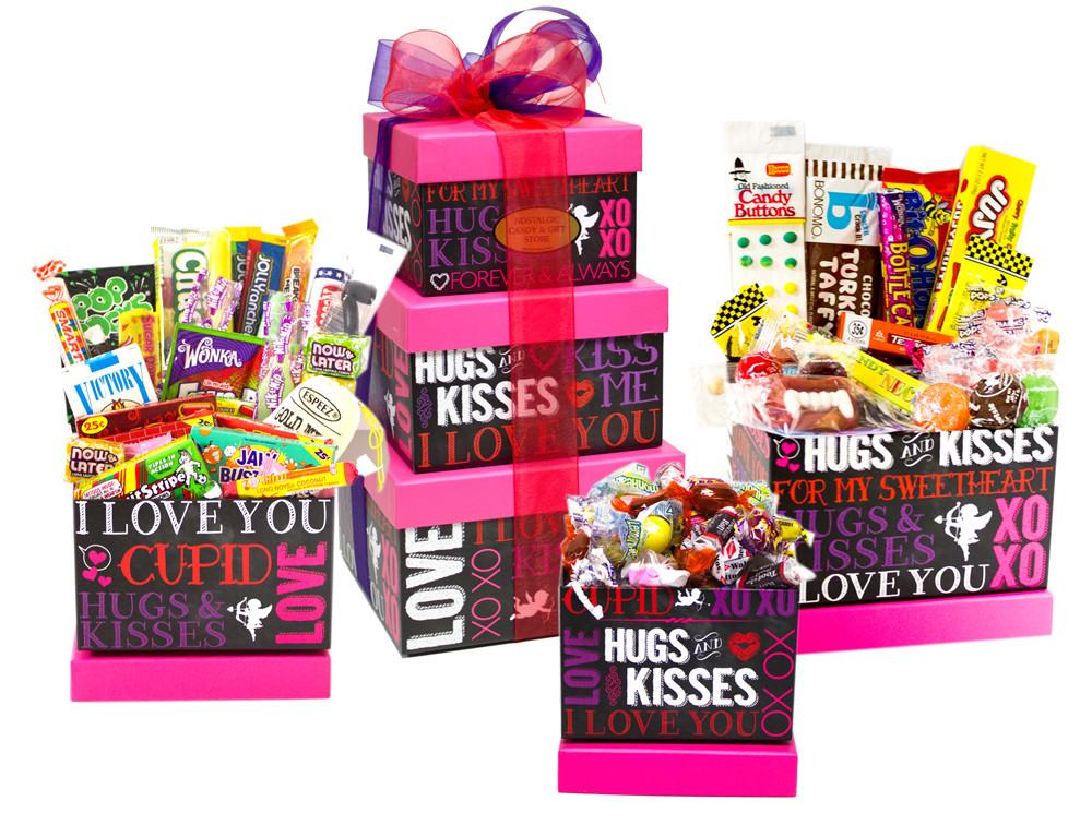Valentine Candy Gift Ideas  Chalkboard Valentine s Nostalgic Candy Gift Tower