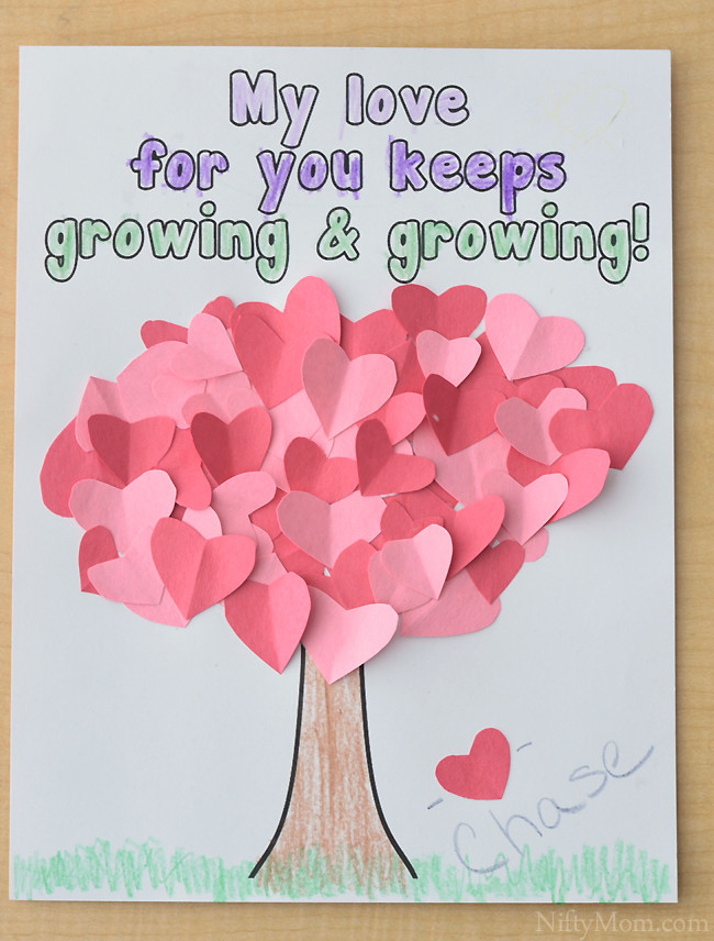 Valentine Crafts For Preschoolers To Make  Heart Tree Craft for Kids Valentine s Day