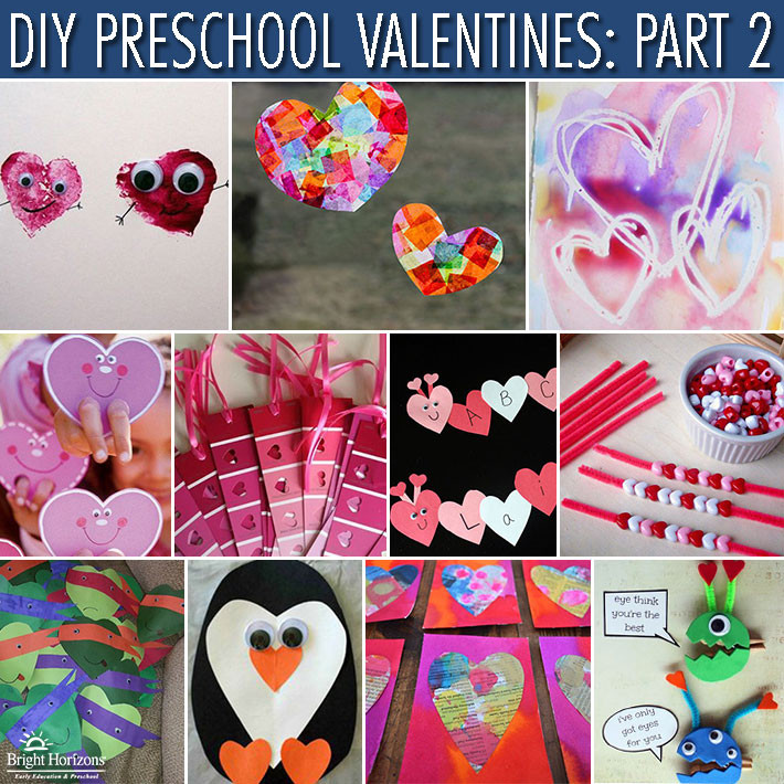 Valentine Crafts For Preschoolers To Make  DIY Preschool Valentines Gifts