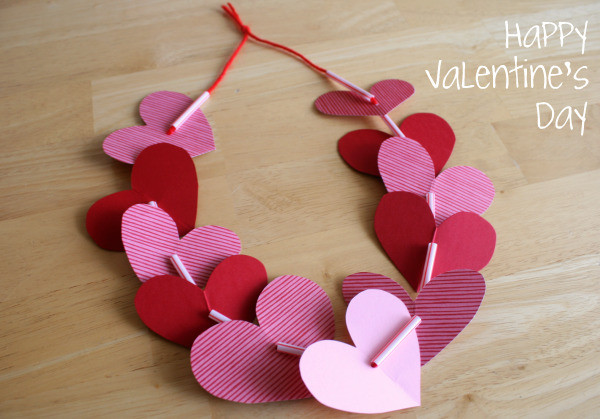 Valentine Crafts For Preschoolers To Make  Preschool Crafts for Kids Valentine s Day Heart Necklace