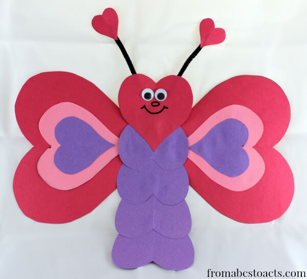 Valentine Crafts For Preschoolers To Make  Valentine Crafts for Kids Heart Shaped Butterfly