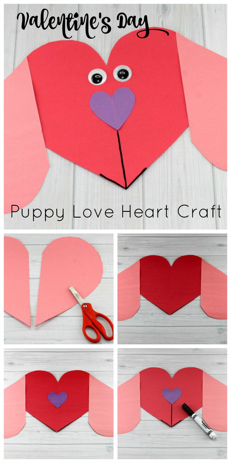 Valentine Crafts For Preschoolers To Make  Puppy Love Preschool Heart Craft to Make this Valentine s Day
