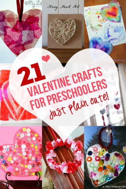 Valentine Crafts For Preschoolers To Make  Valentines crafts for preschoolers Crafts for
