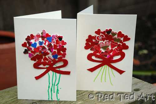 Valentine Crafts For Preschoolers To Make  Kids Craft Valentine s Handprints & Cards Red Ted Art s