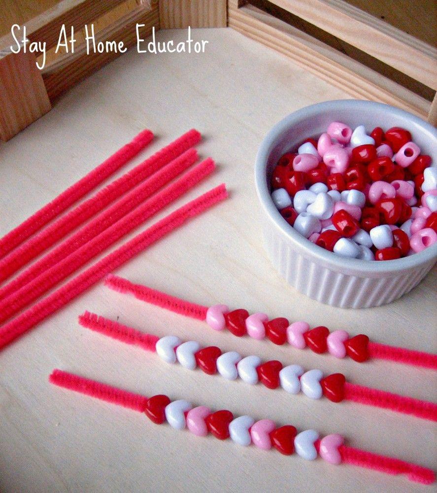 Valentine Crafts Ideas For Preschoolers  Montessori Inspired Valentine s Preschool Trays