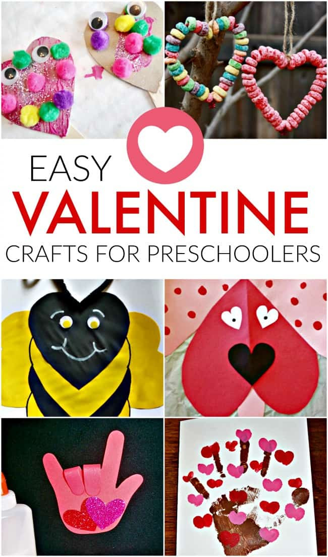 Valentine Crafts Ideas For Preschoolers  Easy Valentine Craft Ideas for Preschoolers Crafts for