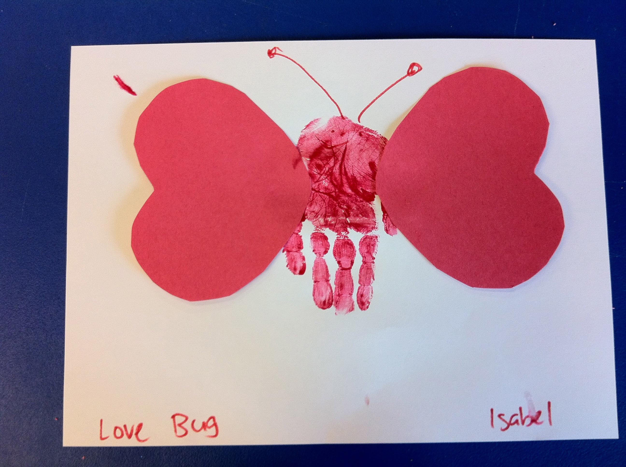 Valentine Crafts Ideas For Preschoolers  Preschool Crafts for Kids Valentine s Day Hand Print