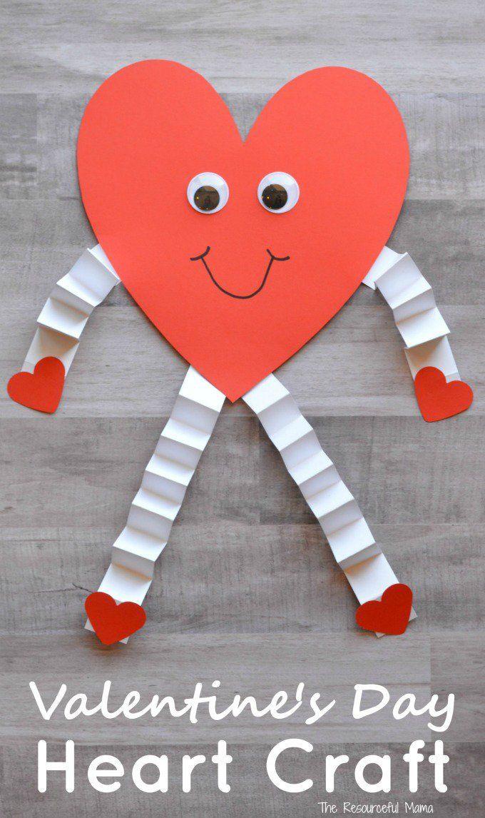 Valentine Crafts Ideas For Preschoolers  Valentine s Day Heart Craft for Kids