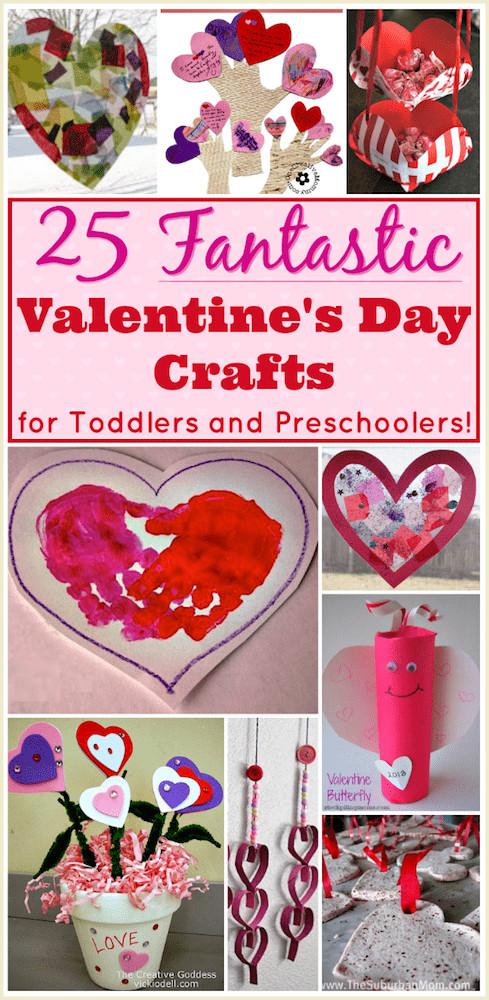 Valentine Crafts Ideas For Preschoolers  Valentine Crafts for Preschoolers 25 Easy Projects for