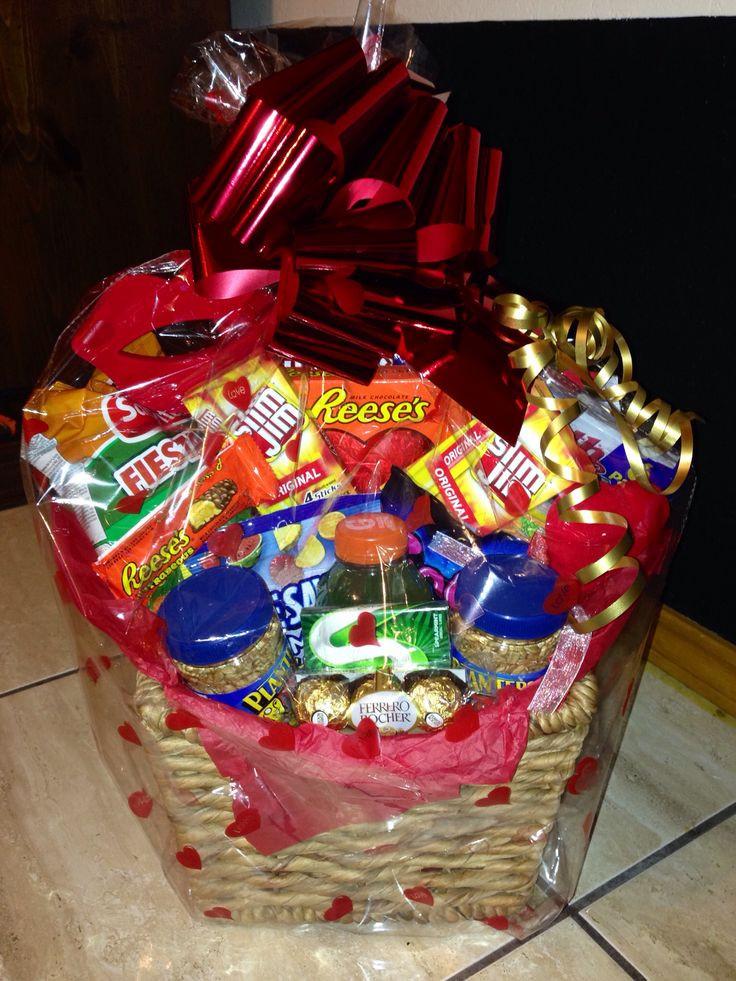 Valentine Day Gift Baskets Ideas  28 best Valentine s Day basket Ideas images on Pinterest