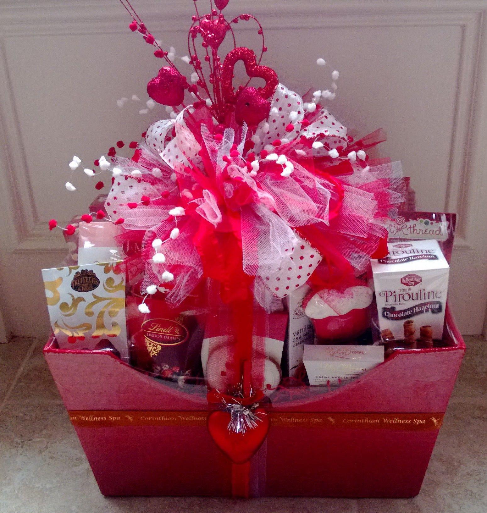 Valentine Day Gift Baskets Ideas  Valentine s Basket Gift Wrapping Ideas