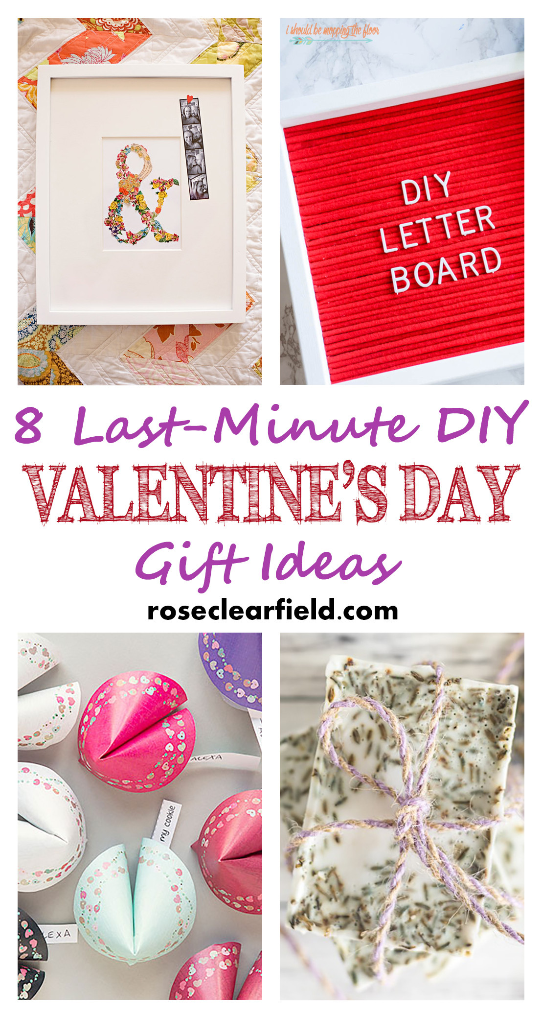 Valentine Day Homemade Gift Ideas  Last Minute DIY Valentine s Day Gift Ideas • Rose Clearfield