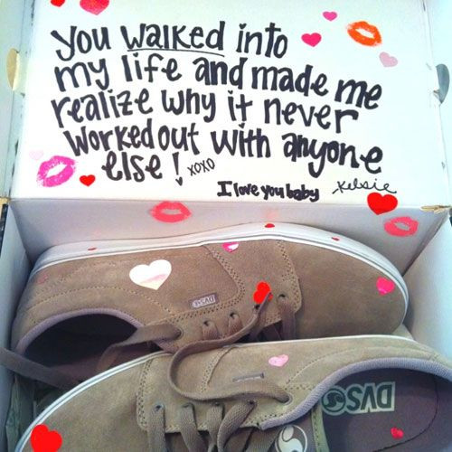 Valentine Gift For Husband Ideas  Valentine Gift Ideas for Boyfriend Luv d Up Sneakers
