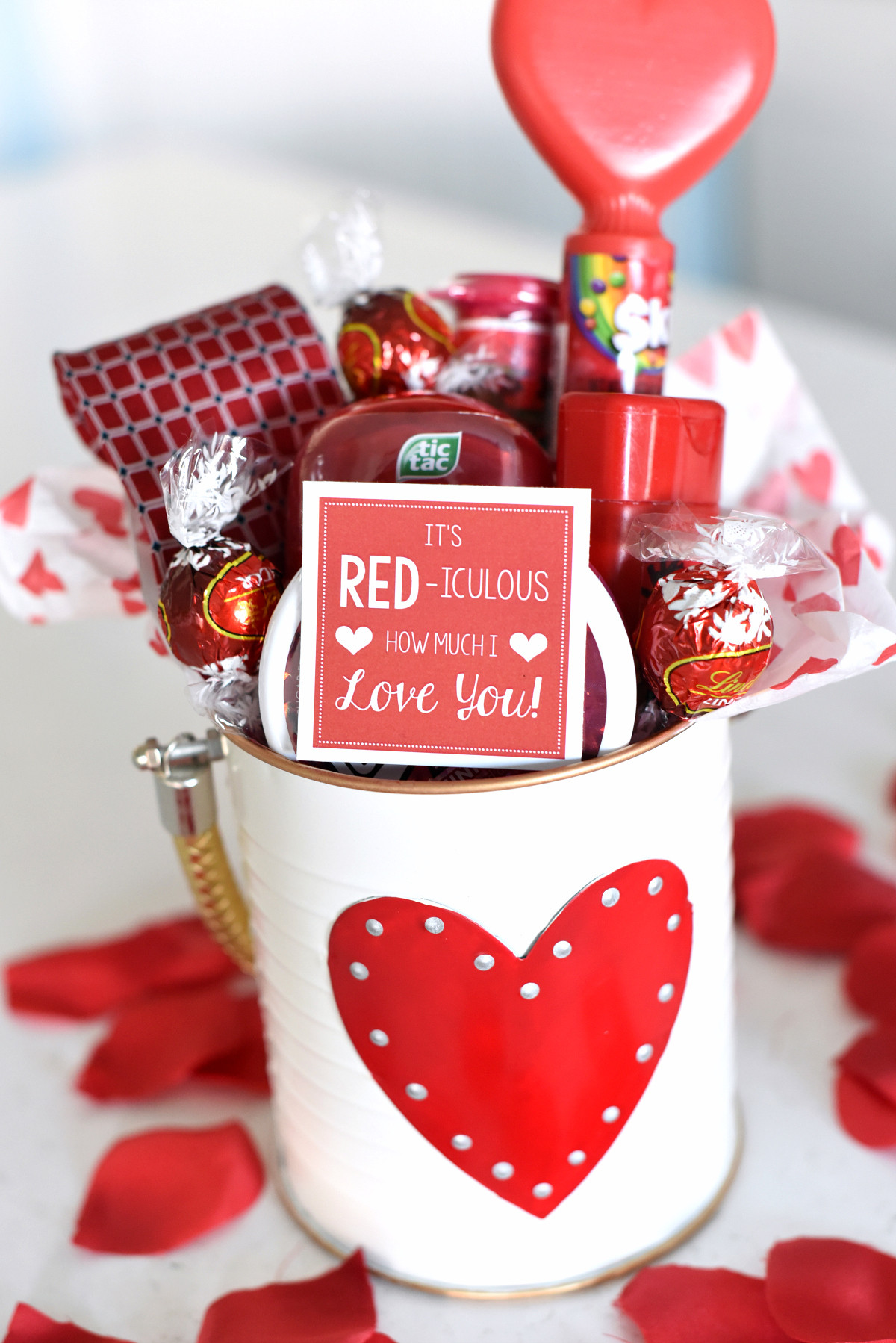 Valentine Gift For Husband Ideas  Cute Valentine s Day Gift Idea RED iculous Basket