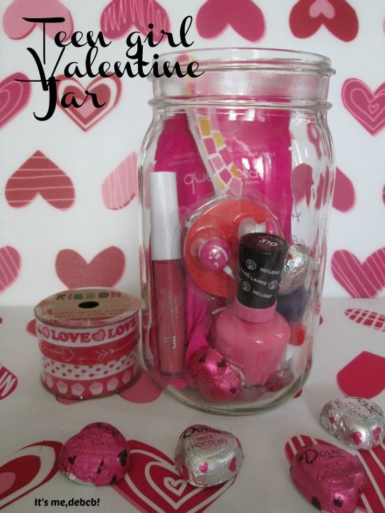 Valentine Gift Ideas For Girls  Tickled Pink Valentine s Day Jar plus a FREE Printable