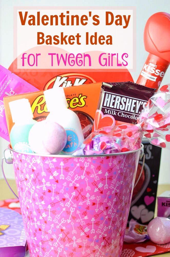 Valentine Gift Ideas For Girls  Valentine s Day Basket Idea for Tween Girls