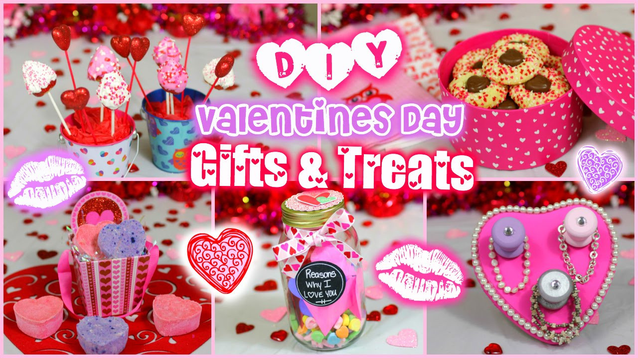 Valentine Gift Ideas For Girls  Easy DIY Valentine s Day Gift & Treat Ideas for Guys and