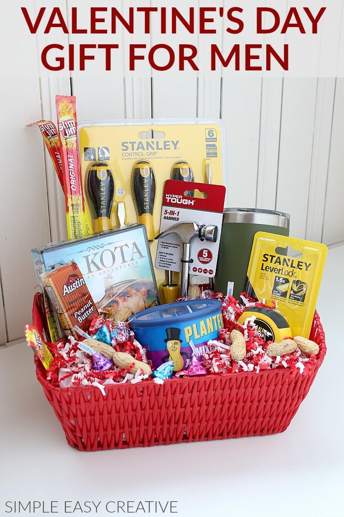 Valentine Gift Ideas For Men  Gift Basket for Men Hoosier Homemade