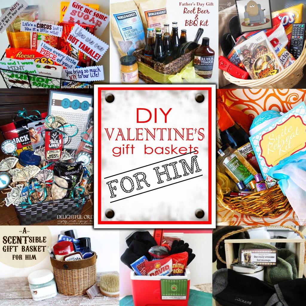 Valentine Gift Ideas For Men  DIY Valentine s Day Gift Baskets For Him Darling Doodles