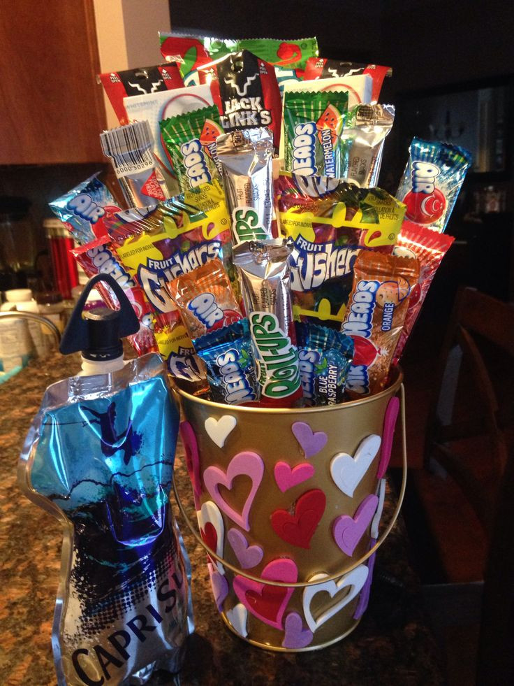 Valentine'S Day Gift Basket Ideas  My boyfriends candy basket for valentines day ️