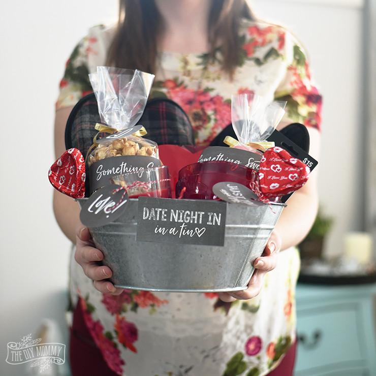 Valentine'S Day Gift Basket Ideas  Valentine s Day Date Night In Gift Basket Idea 24 More