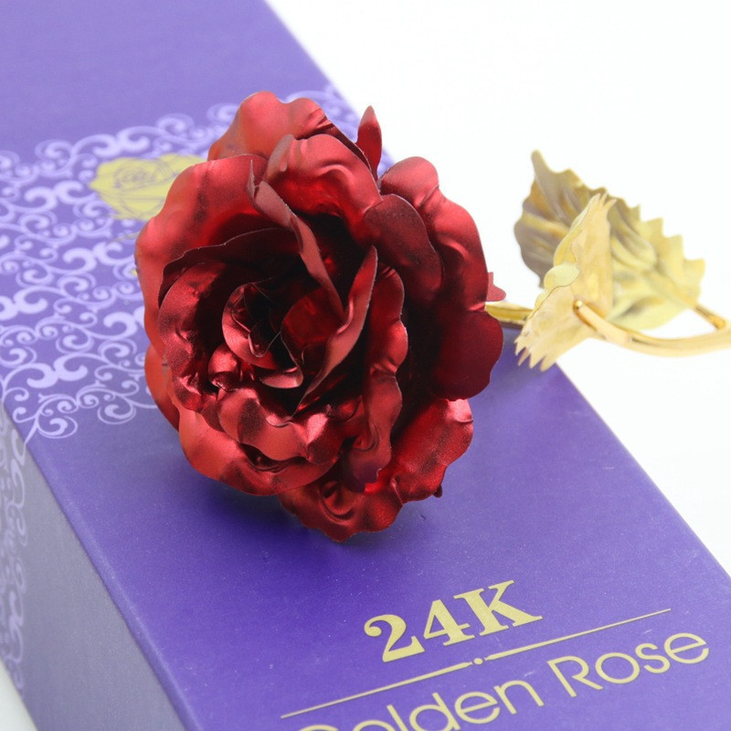 Valentine'S Gift Ideas  24K Gold Plated Rose Flower Valentine s Day Gift Birthday
