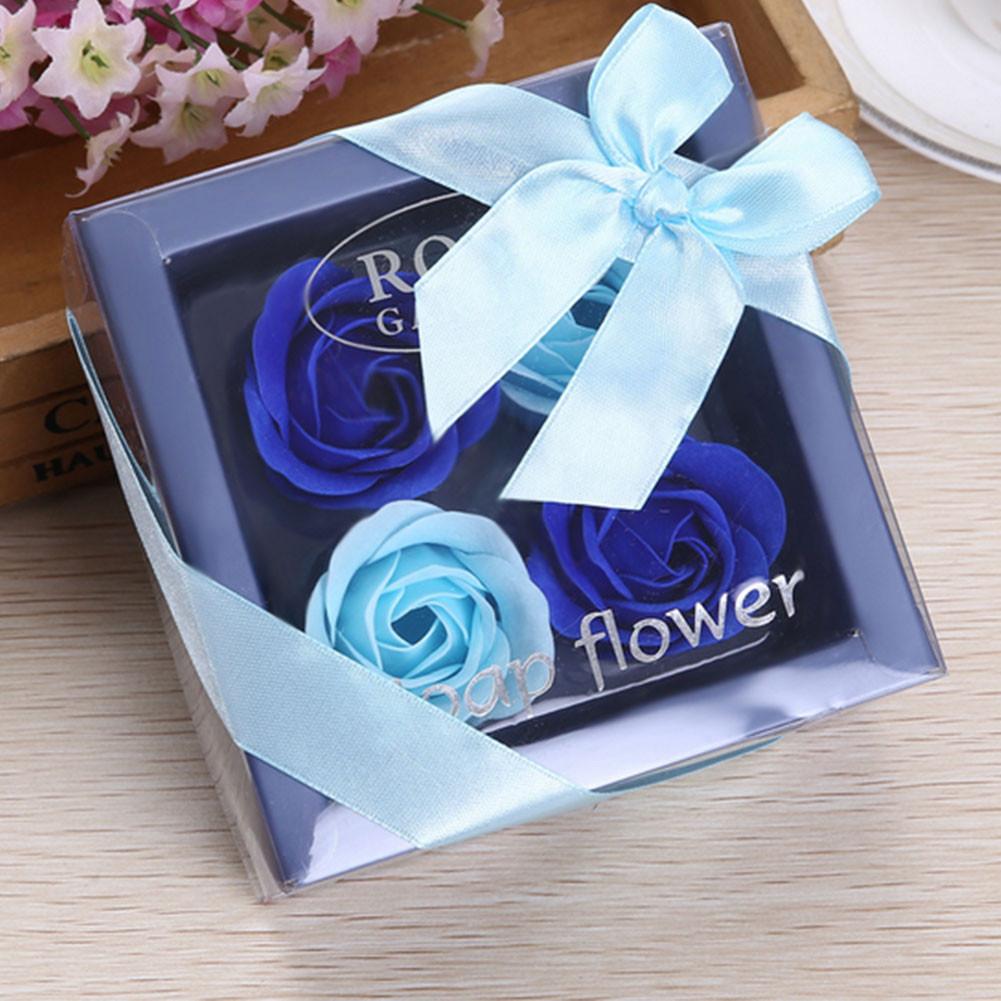 Valentine'S Gift Ideas  Romantic 4 Slots Flower Rose Box Soap Flower Valentine s