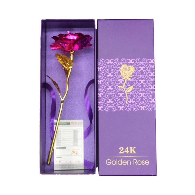 Valentine'S Gift Ideas  Romantic Forever Love Rose 24K Gold Plated Flower