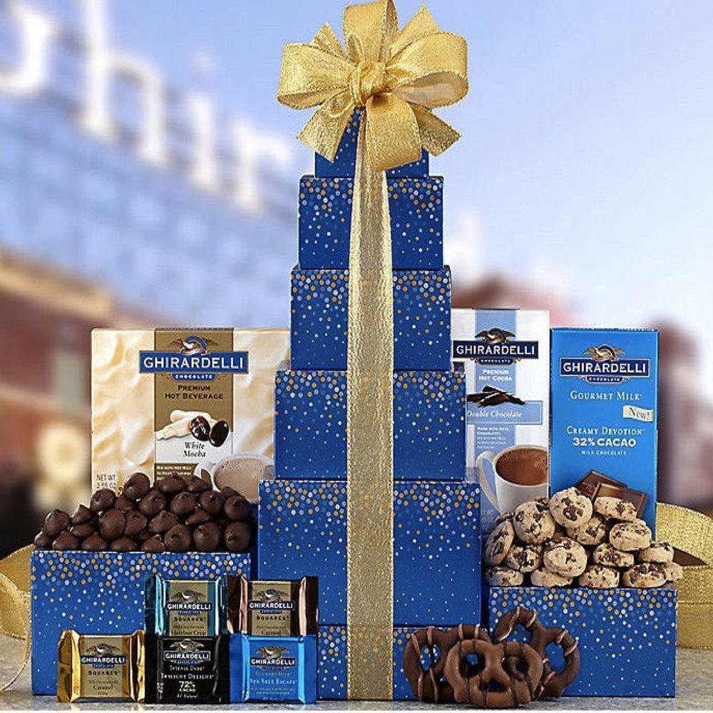 Valentine'S Gift Ideas  Ghirardelli Chocolate Tower Gift Basket Valentine s Day