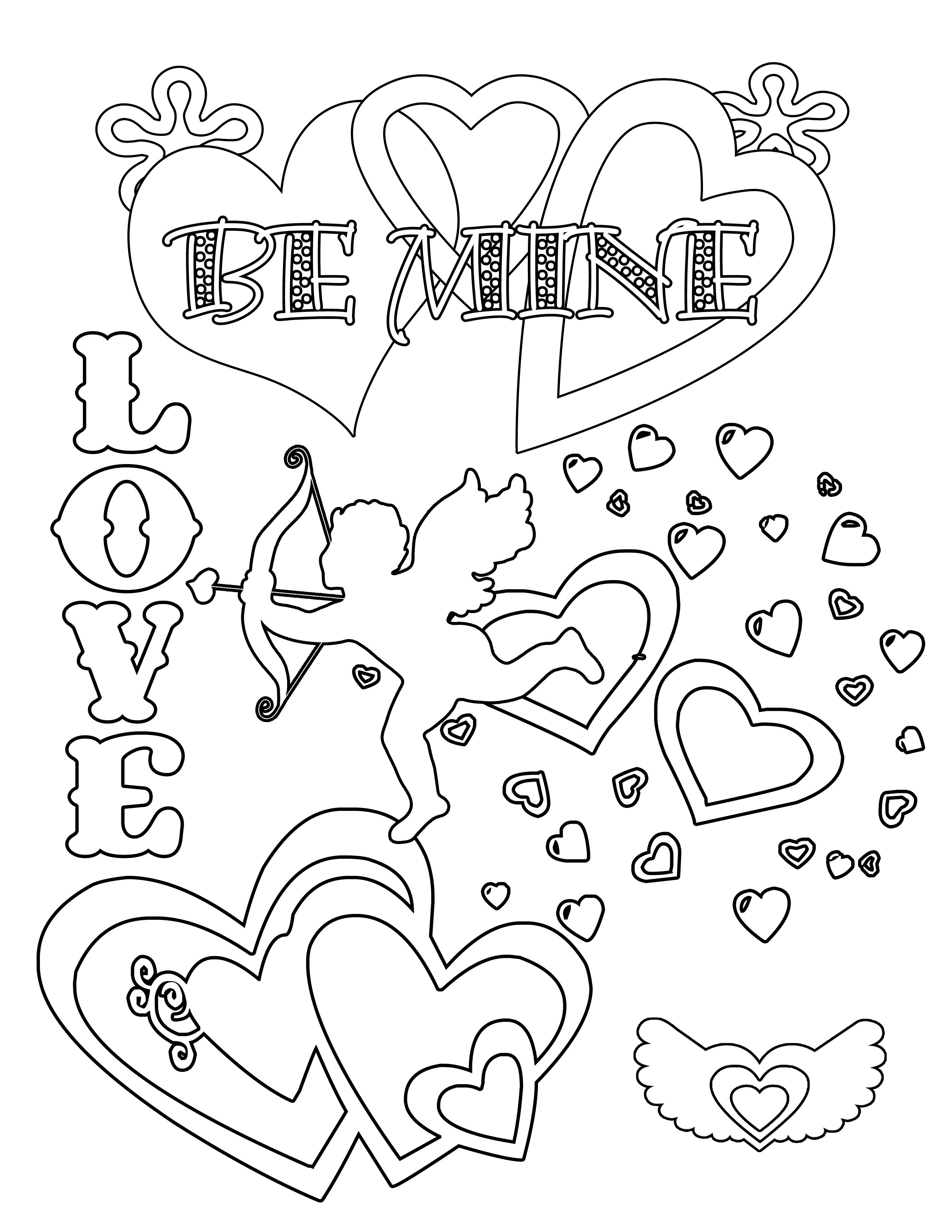 Valentines Coloring Pages Printable  Party Simplicity Free Valentines Day Coloring Pages and