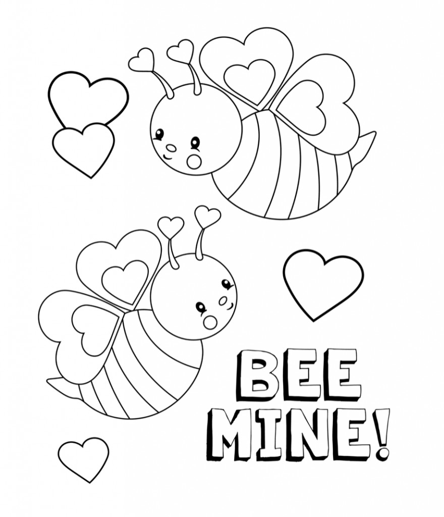 Valentines Coloring Pages Printable  Valentines Coloring Pages Happiness is Homemade